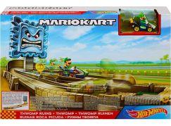 Mattel Hot Wheels Mario Kart závodní dráha odplata GFY46 Thwomp Ruins