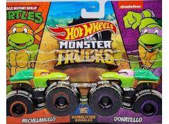 Mattel Hot Wheels Monster trucks demoliční duo Michelangelo a Donatello