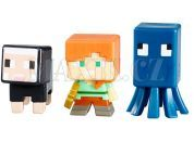 Mattel Minecraft minifigurka 3ks - Squid, Alex and Black Sheep