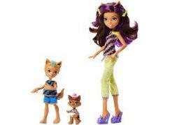 Mattel Monster High sourozenci monsterky 2 ks Clawdeen Wolf