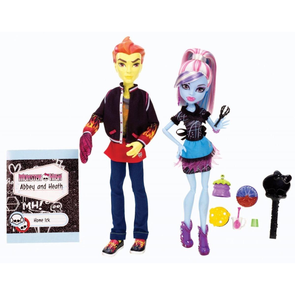 Mattel Monster High Třídní 2pack - Abbey Bominable, Heath Burns