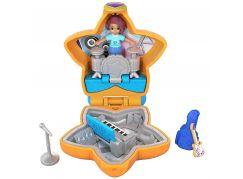 Mattel Polly Pocket panenka do kapsy oranžová hvězda FRY32