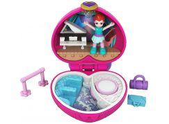 Mattel Polly Pocket panenka do kapsy růžové srdce FWN41