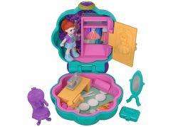 Mattel Polly Pocket panenka do kapsy zelená kytička FRY31