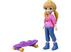 Mattel Polly Pocket sportovní panenka Skate Rockin Polly