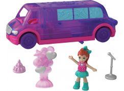 Mattel Polly pocket vozidlo fialový vůz