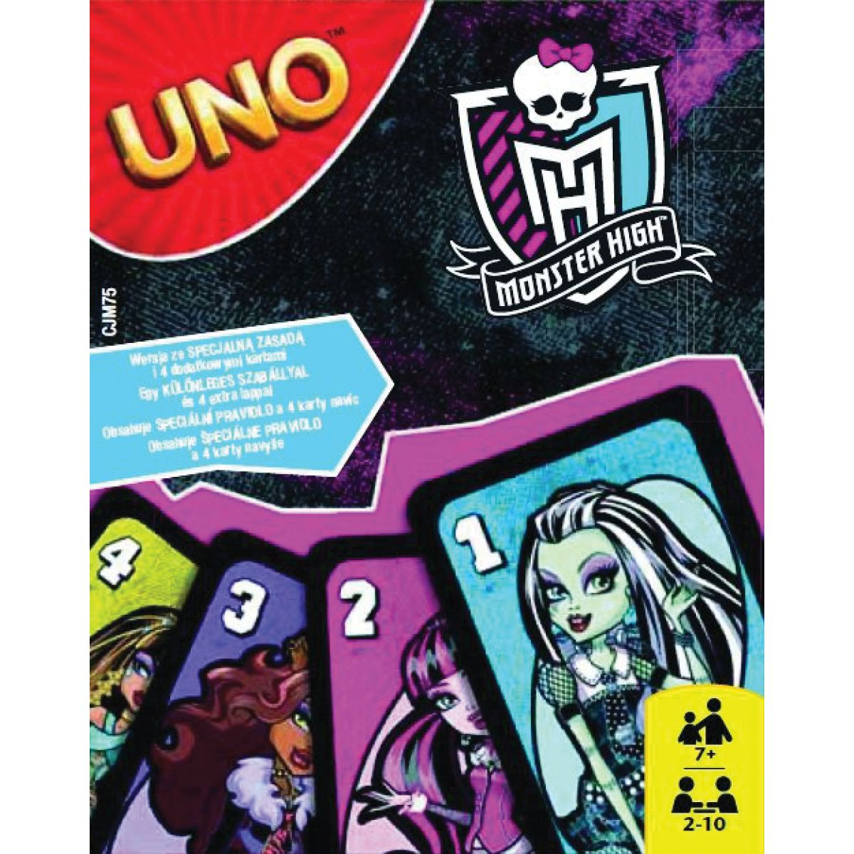 Mattel UNO Karty Monster High 2