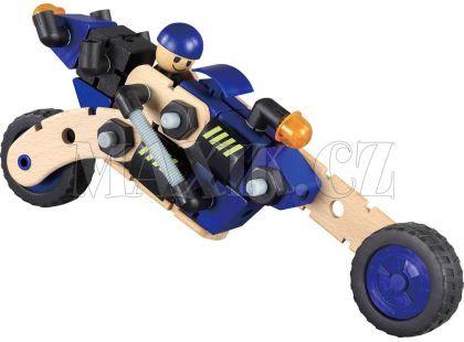 Maxim Dřevěná stavebnice motorka