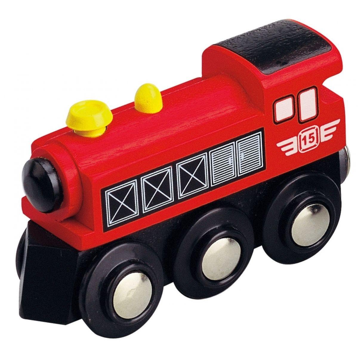 Maxim Parní lokomotiva - červená
