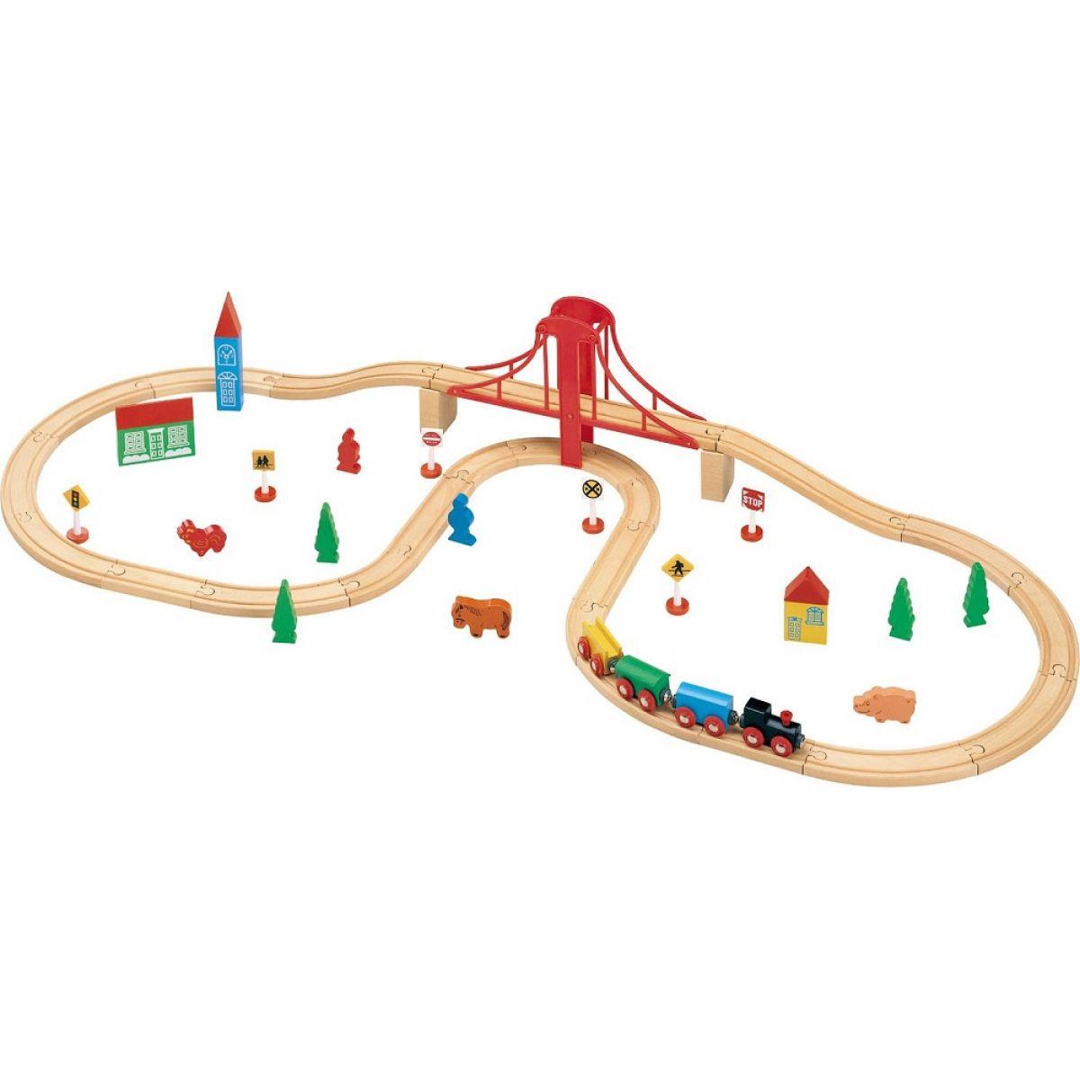 Maxim Vláčkodráha s velkým mostem 50ks