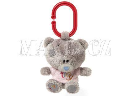 Me to you Tiny Tatty Teddy - Medvídek pískátko v růžovém tričku 10 cm