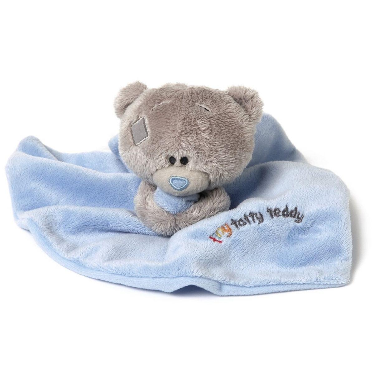Me to you Tiny Tatty Teddy - Modrá dečka s medvídkem