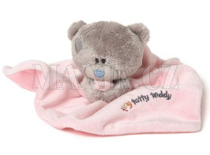 Me to you Tiny Tatty Teddy - Růžová dečka s medvídkem