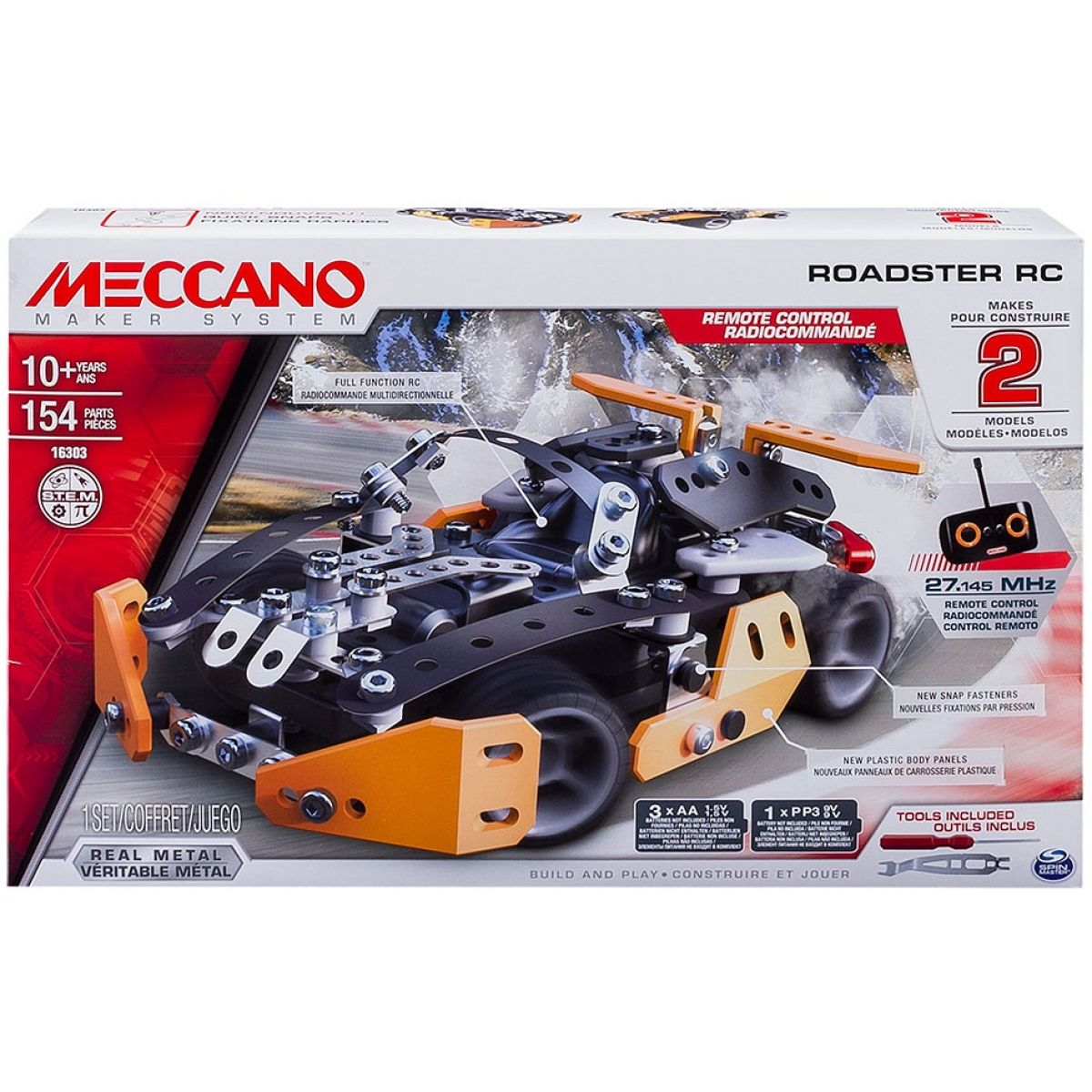 Meccano RC Stavebnice Roadster 2v1