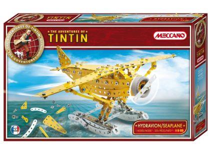 Meccano stavebnice Tintin hydroplán