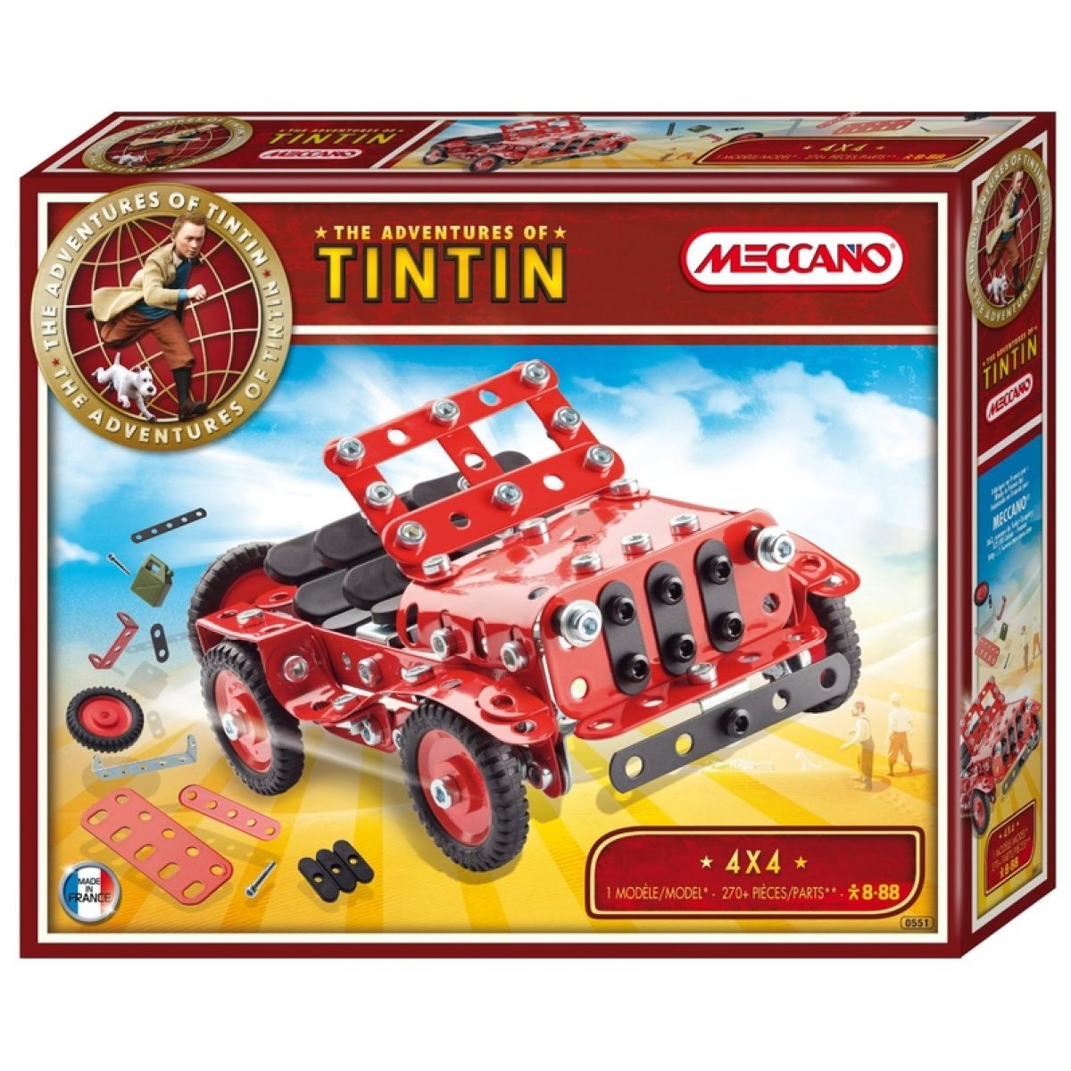 Meccano stavebnice Tintin Jeep 4X4