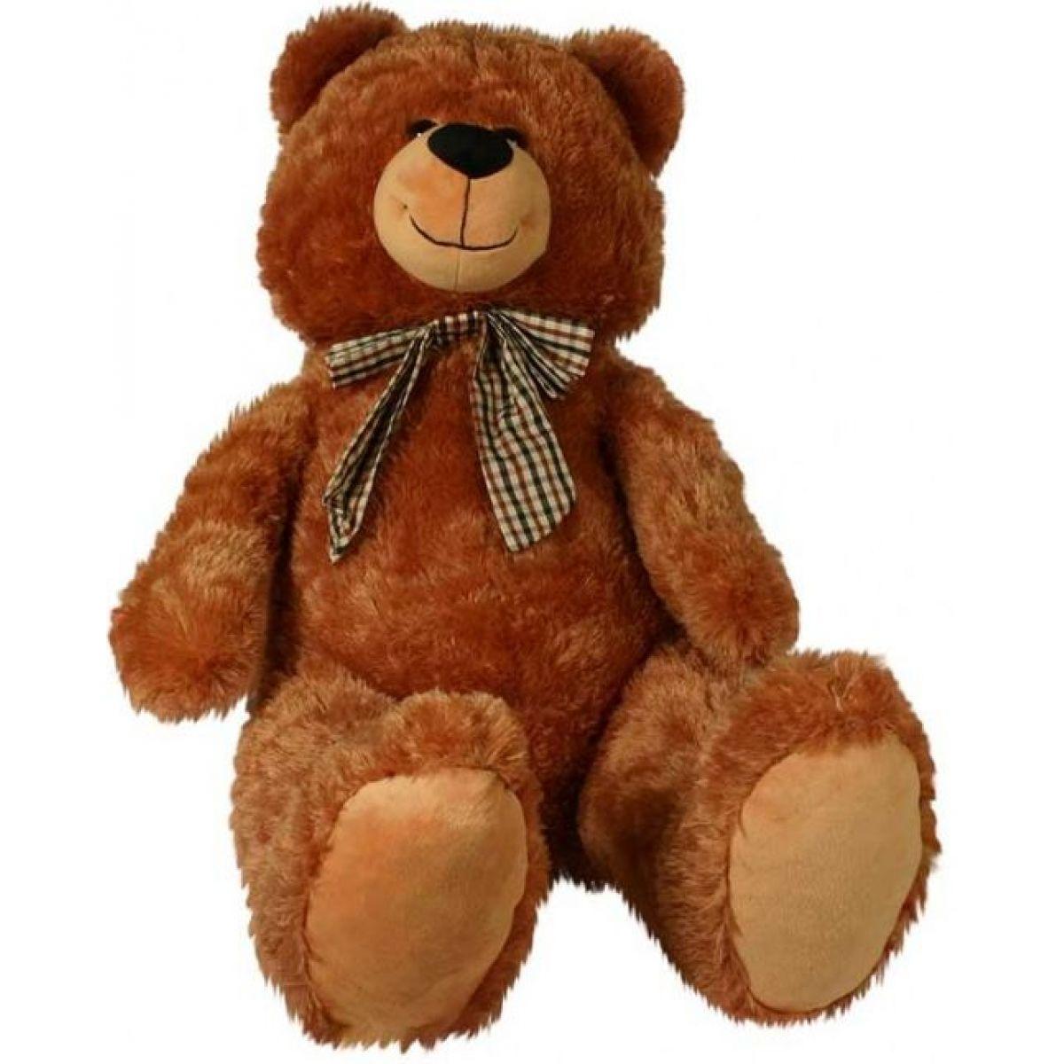 Medvěd Edmont plyšový 100cm - Tmavá