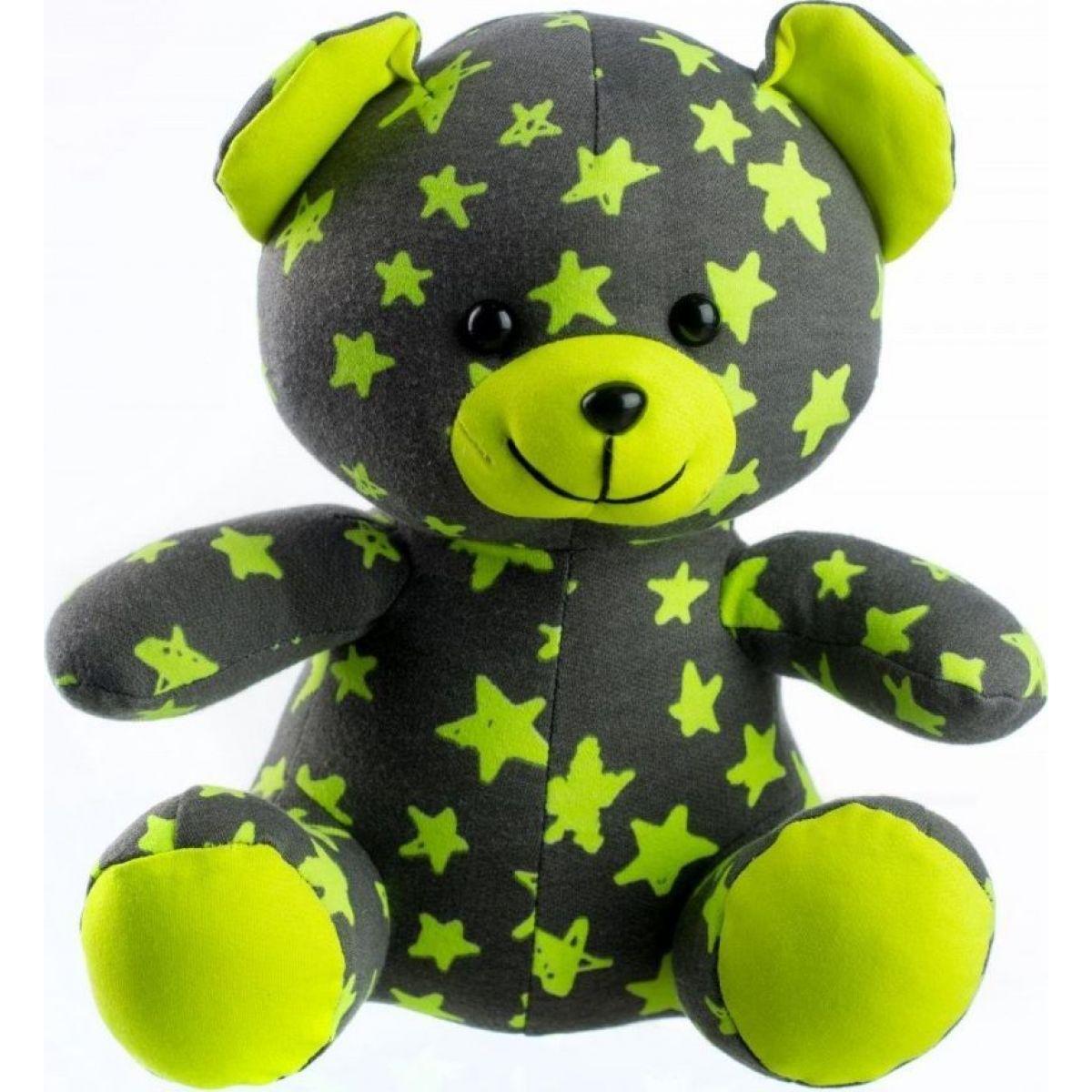 Medvídek svítící ve tmě šedo - zelený