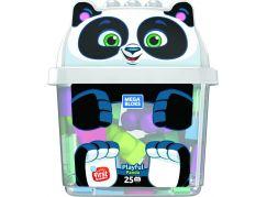 Mega Bloks kyblík s kostkami panda