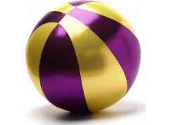 Mega míč textilní zlato-fialový