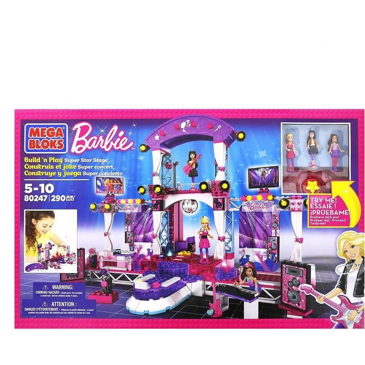 Megabloks Micro Barbie hvězda SuperStar