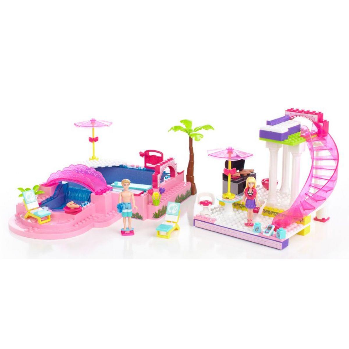Megabloks Barbie na párty u bazénu 159 kostek