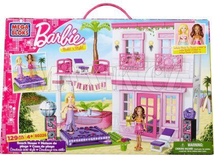Megabloks Barbie ve svém plážovém domě 12 kostek