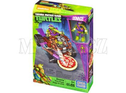 MegaBloks Želvy Ninja Závodníci - Donnie Pizza Buggy