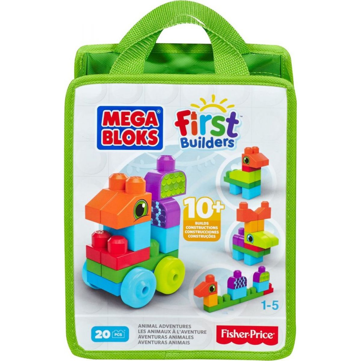 Megabloks First Builders zvířátka 20ks