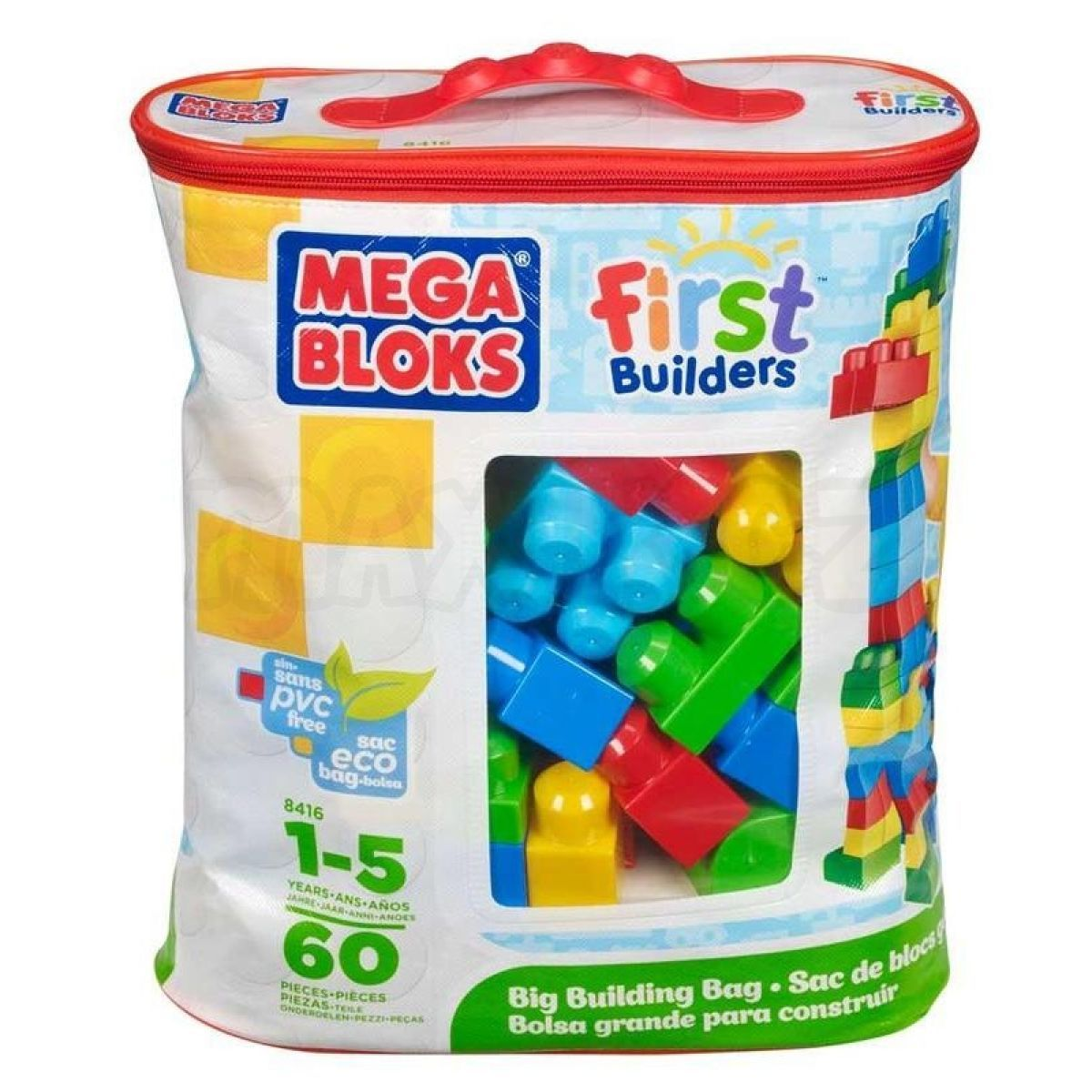 Megabloks kostky v pytli 60 kostek first builders for Builders first