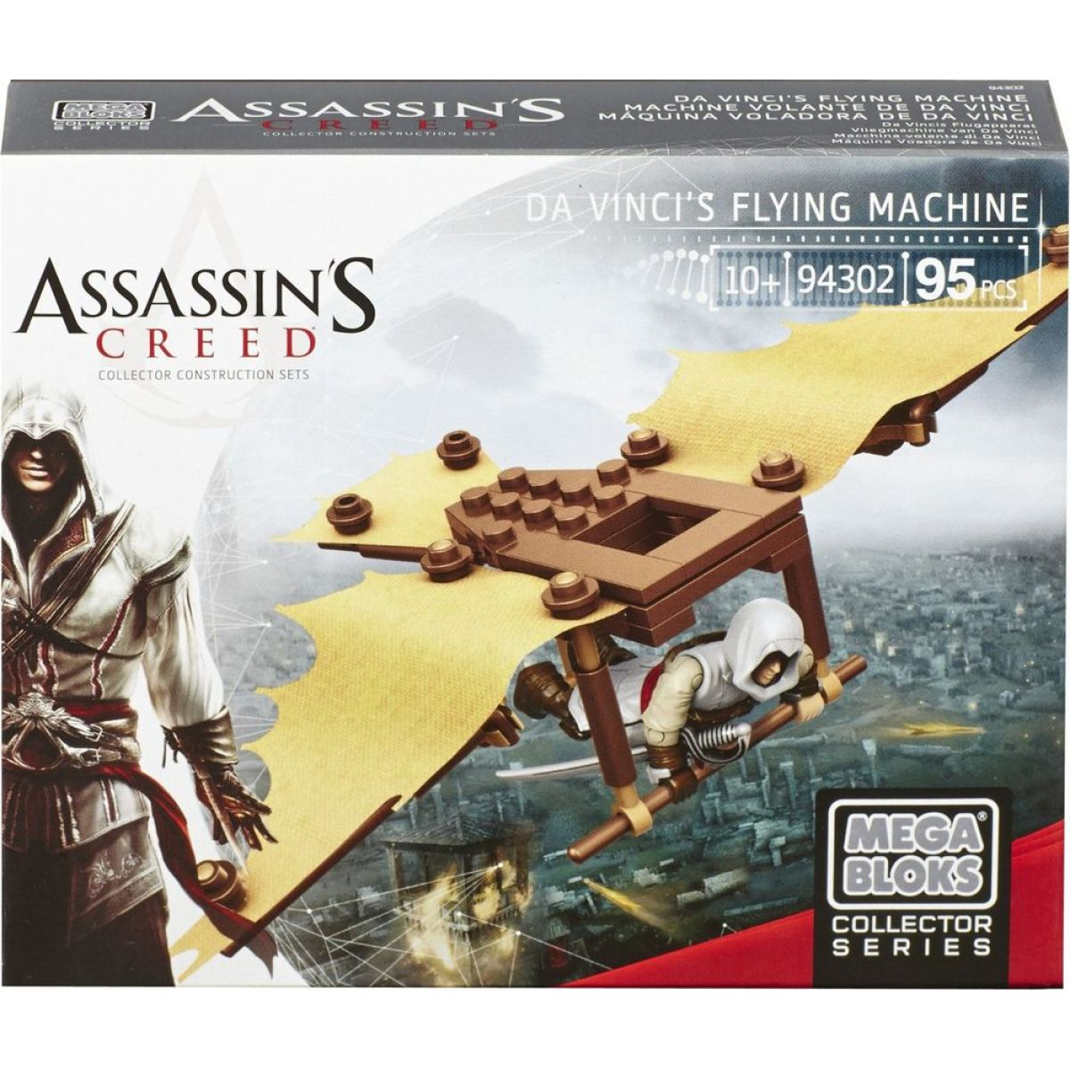 Megabloks Micro Assassin's Creed válečný stroj - Da Vinci's Flying Machine