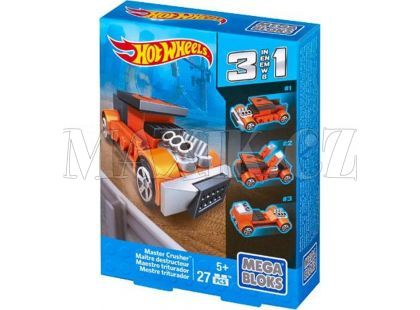 Megabloks Micro Hot Wheels 3v1 angličák - Master Crusher