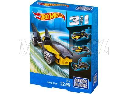 Megabloks Micro Hot Wheels 3v1 angličák - Sting Shot