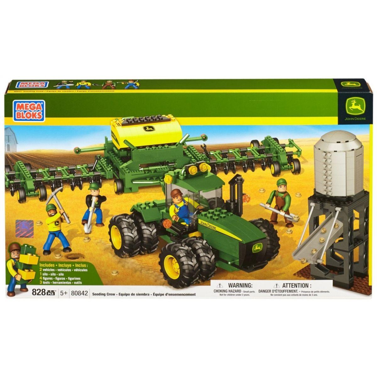 Megabloks Micro John Deere Velký agroset - secí stroj - Poškozený obal