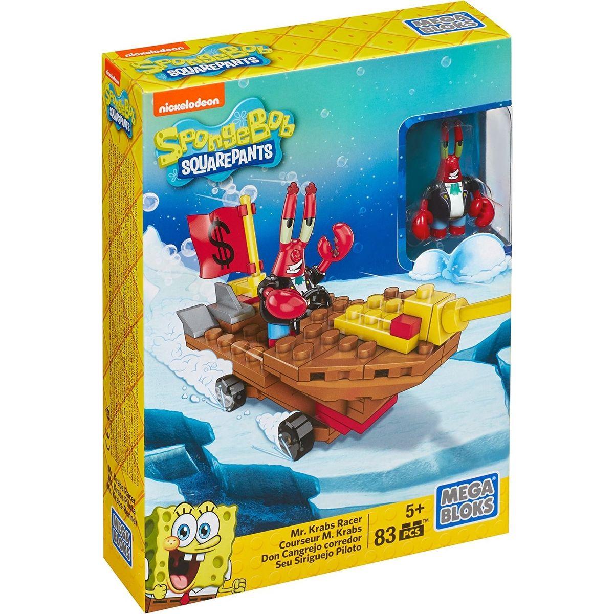 MegaBloks SpongeBob Závodníci - Mr. Krabs Racer