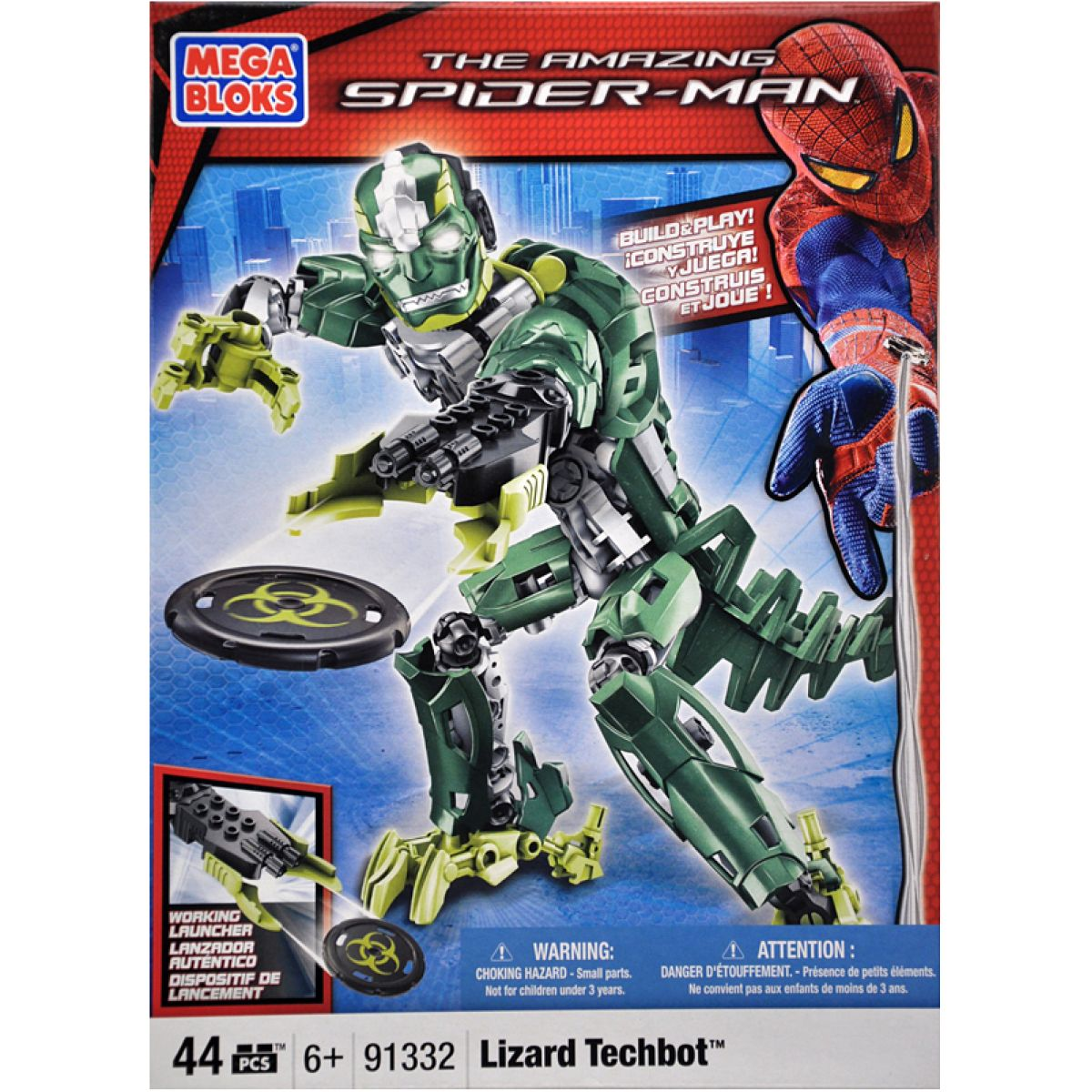 Megabloks The Amazing Spider-man Lizard Techbot