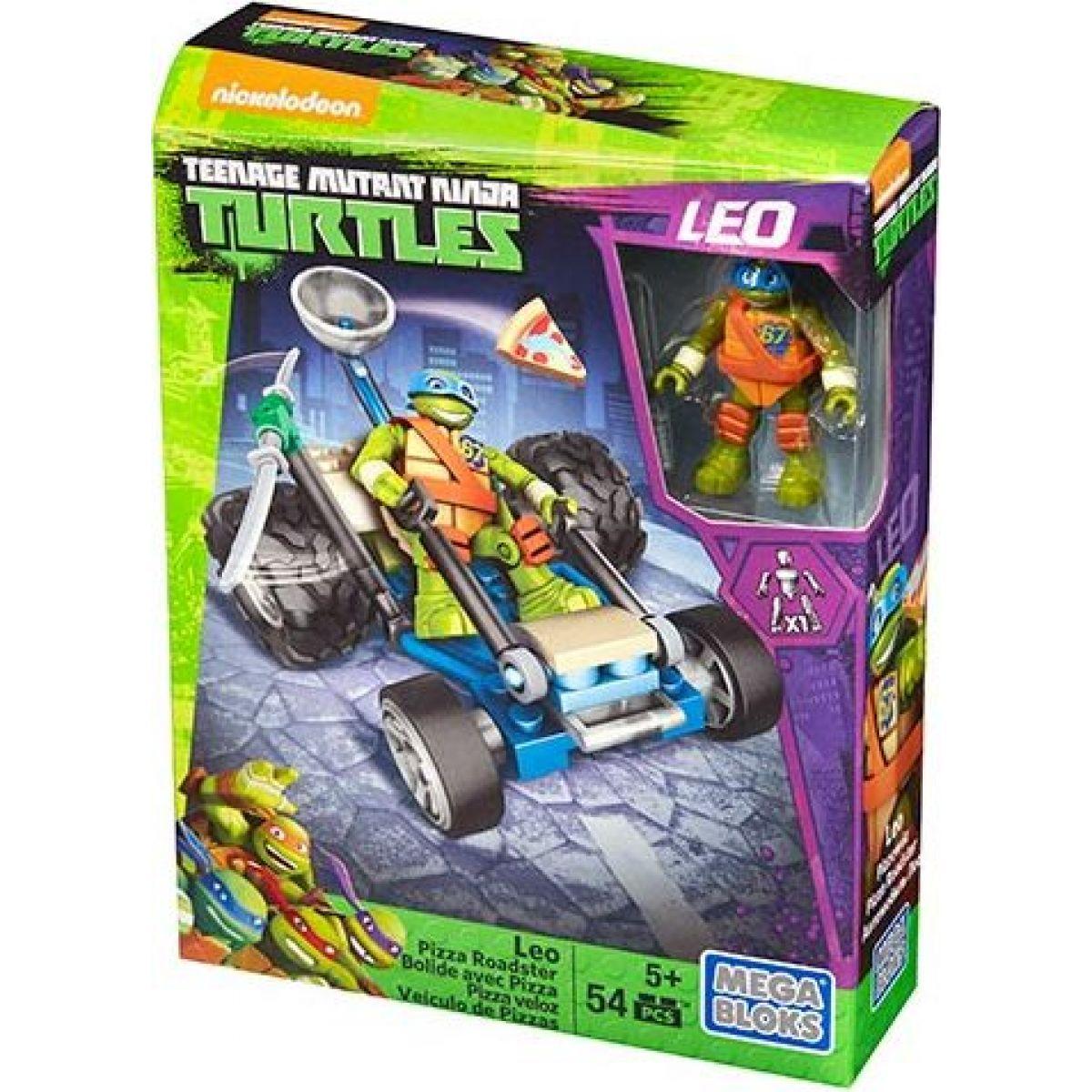 MegaBloks Želvy Ninja Závodníci - Leo Pizza Roadster