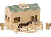 Melissa & Doug Přenosná koňská stáj