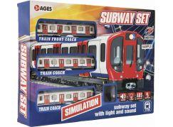Metro plast s kolejemi na baterie se světlem se zvukem v krabici