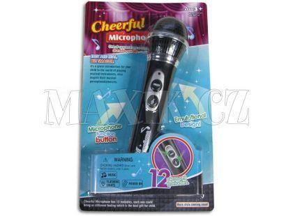 Mikrofon se světlem a hudbou