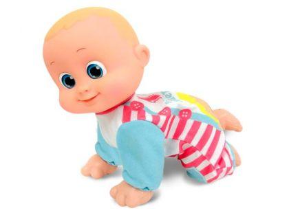Miminko Bouncin Babies lezoucí Baniel a Bounie Pojď k mamince Chlapeček