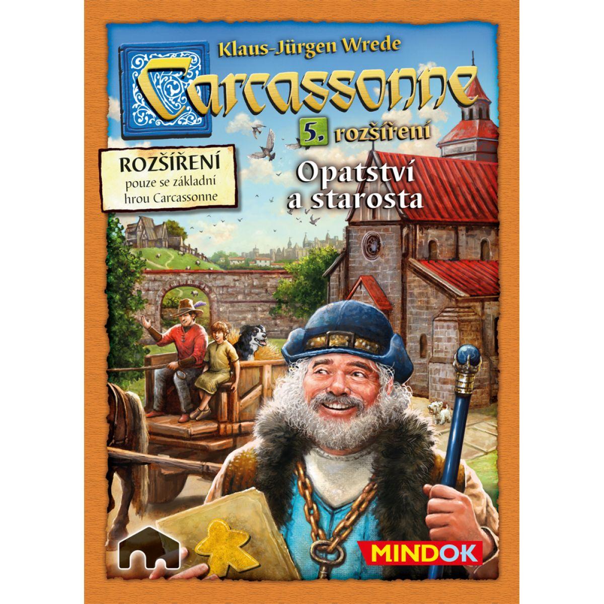 Mindok Carcassonne Rozšíření 5 Opatství a starosta