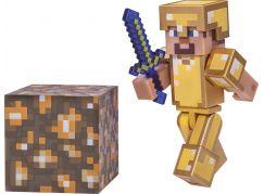 Minecraft sběratelská figurka Steve ve zlaté zbrojí