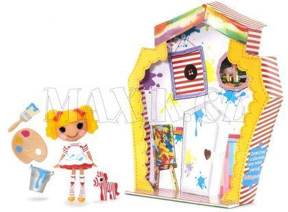 Mini Lalaloopsy Panenka s doplňky a domečkem - Spot Splatter Splash