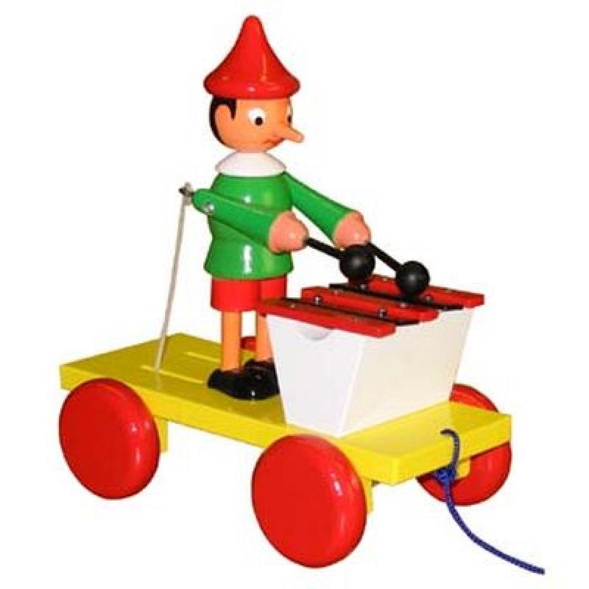 Miva Pinochio s xylofonem tahací