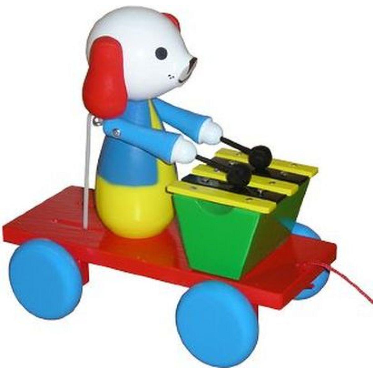Miva Tahající pejsek s xylofonem