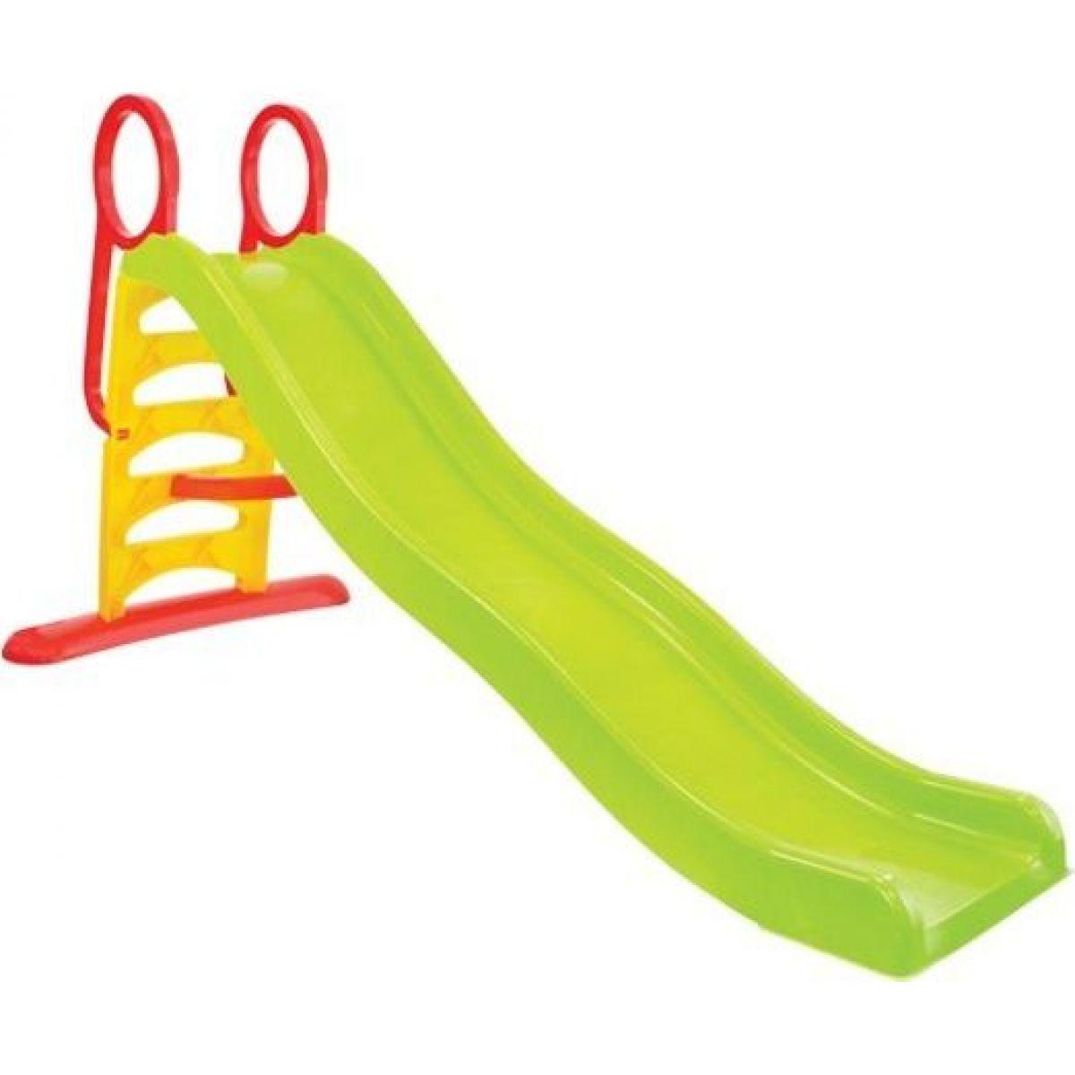 Mochtoys Dětská skluzavka 200 cm zelená