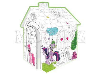 Mochtoys My Little Pony Papírový vymalovávací domek