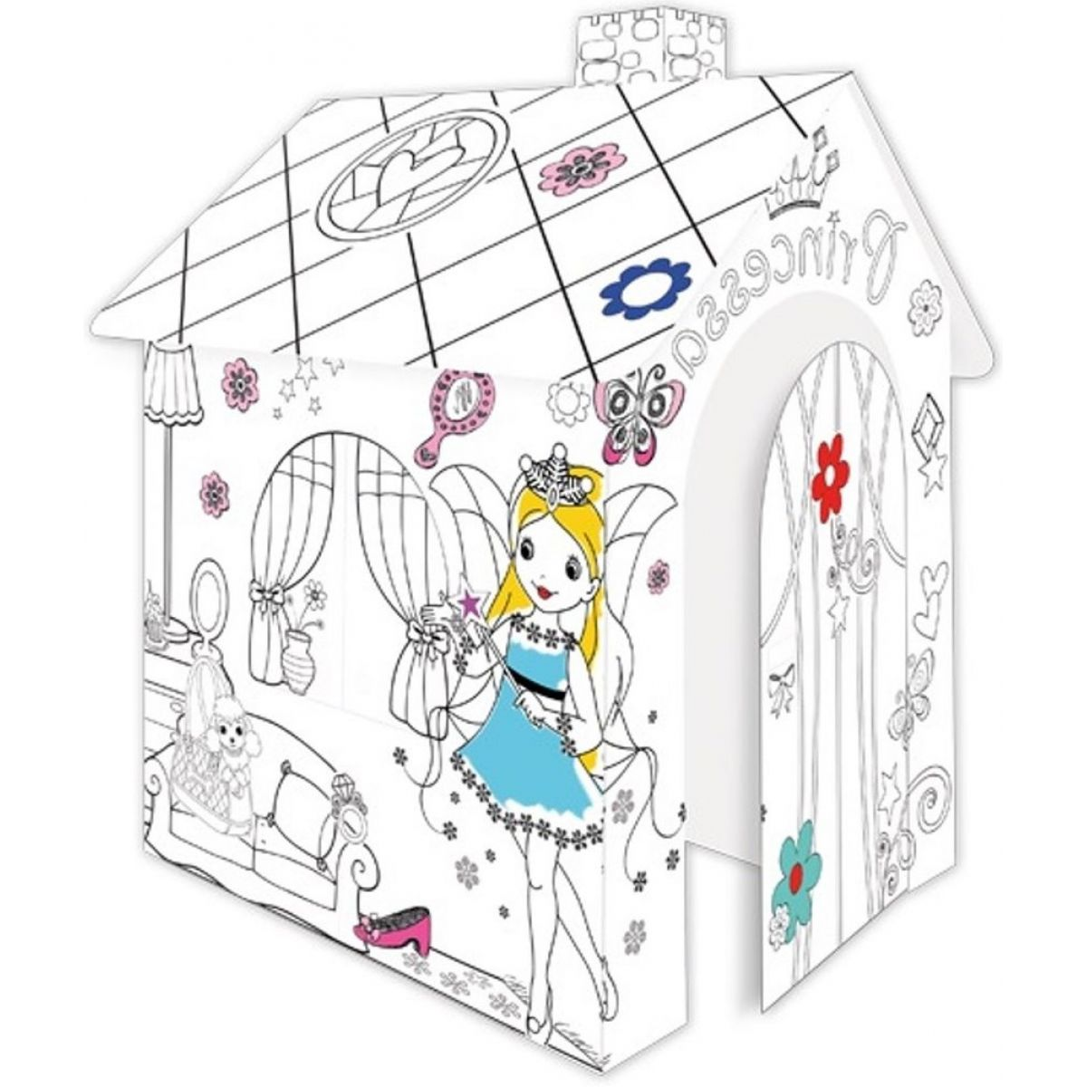 Mochtoys Papírový vymalovávací domeček Princezny