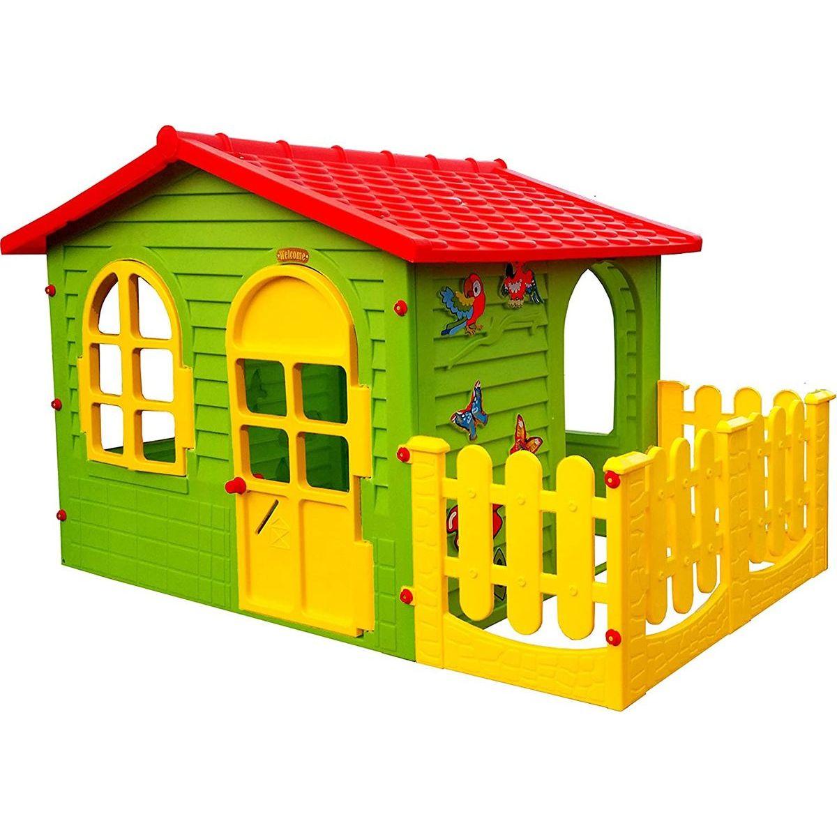 Mochtoys Zahradní domek s plotem
